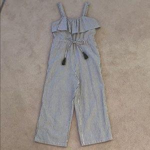 Zara Striped Jumpsuit